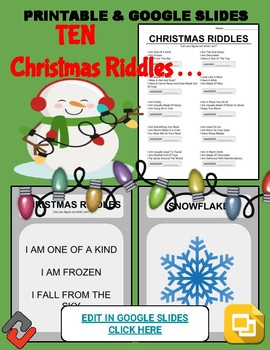 photo relating to Christmas Riddles Printable referred to as Xmas Riddles: Who Am I Handout Google Tumble