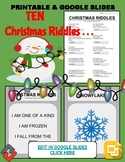 Christmas Riddles: Who Am I Handout & Google Slide
