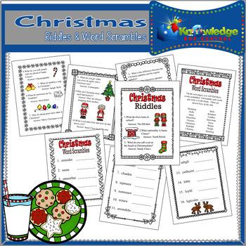 Christmas Riddles & Word Scramble