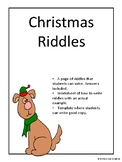 Christmas Riddles-Writing activity