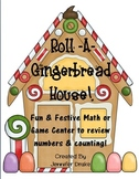 Christmas 'Roll-A-Gingerbread House' Game/Center+! Aligned w/ CC PreK-1 Fun!