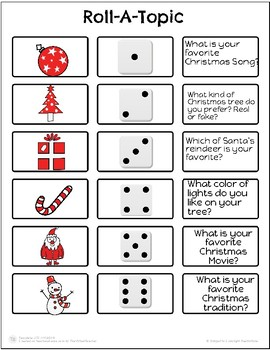 Christmas Roll-A-Topic!