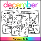 Christmas Roll Add & Color/ December Math Centers