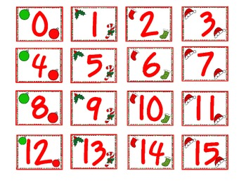 Christmas Roll, Say, Keep     A Number Recognition Game & Number Word Game