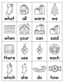 Christmas Roll, Say, Keep with First 300 Fry Words