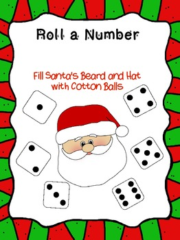 Christmas Roll a Number Freebie