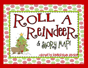 Christmas Roll a Reindeer and Story Map Freebie