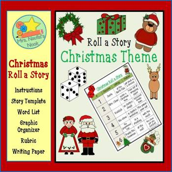 Christmas Roll a Story - Prompts, Graphic Organizers, Word