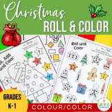 Christmas Roll and Color Number and Shape Activities