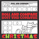 Christmas Roll and Compare Greater Than, Less Than, Equal Worksheets
