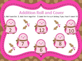 Christmas Roll and Cover-Addition-Differentiated
