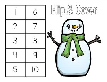 Christmas - Roll and Cover & Flip and Cover Math Games
