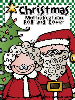 Christmas Roll and Cover for Multiplication Center Activity