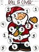 Christmas Roll and Cover with Ten Frames and Number Sentences