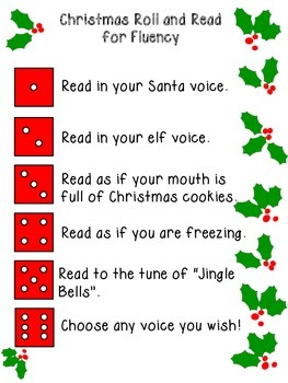 Christmas Roll and Read for Fluency