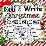Christmas Roll and Write Sentences