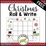 FREE Christmas Roll 'n' Write Game