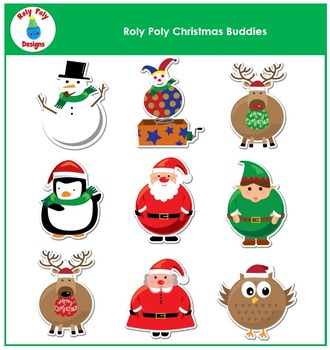 Christmas Roly Poly Buddies Clip Art by Roly Poly Designs
