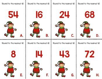 Christmas Round to the Nearest Ten Unit