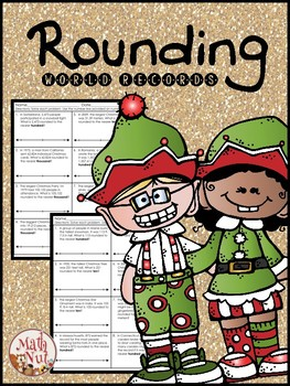 Christmas Math Rounding Activity Rounding World Records by