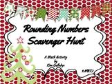 Christmas Rounding to Nearest Ten and Hundred - 3.NBT.1 Scavenger Hunt