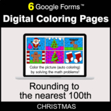 Christmas: Rounding to the nearest 100th - Digital Coloring Pages | Google Forms