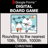 Christmas: Rounding to the nearest 10th, 100th, 1000th - D