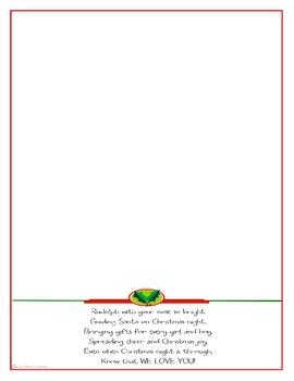 Christmas Rudolf Hand & Foot Print blank