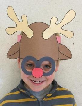 Christmas Rudolph Reindeer Sentence Strip Mask