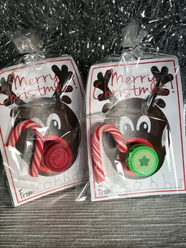 Christmas Rudolph Stamps Template: Cheap student gifts/presents