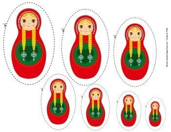 christmas russian dolls size sorting
