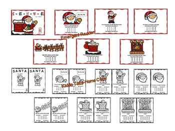 Christmas - S-A-N-T-A Song with Literacy and Math Activities