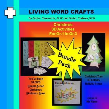 Christmas – SACK'D,  3D Nativity Tree, Name of Jesus for Pre-K to Gr.3
