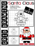 Christmas SANTA CLAUS (Draw with Shapes) Grid Drawing - NO PREP