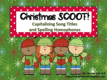 Christmas SCOOT Capitalizing Titles and Spelling Homophones