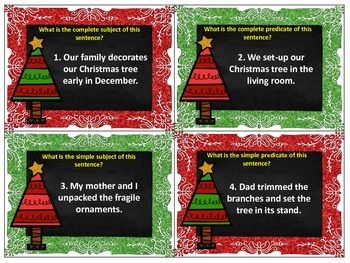 Christmas SCOOT: Subjects and Predicates