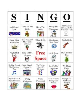 Christmas SINGO Game