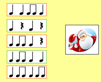 Christmas SMART Notebook Activity   Music   High vs Low & Rhythm   Grade 1 and 2