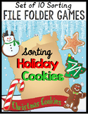 Christmas SORTING File Folder Games BUNDLE OF 10 Activities Special Education