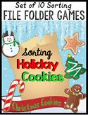 Christmas SORTING File Folder Games BUNDLE