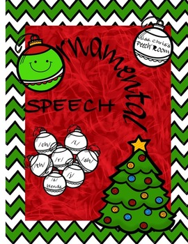 Christmas SPEECH ch  th   sh  r  d3  s-blends l