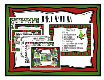 Christmas STEAM STEM Bundle *Editable Word Documents*