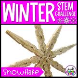 January Winter STEM Activities (Snowflake Winter STEM Challenge)