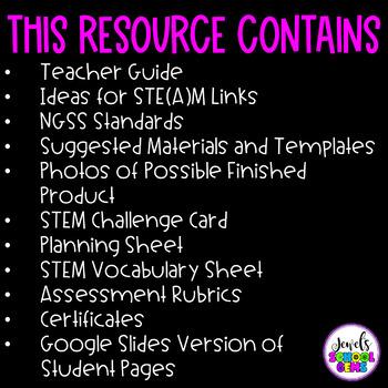 Winter STEM Activities (Snowflake Winter STEM Challenge)