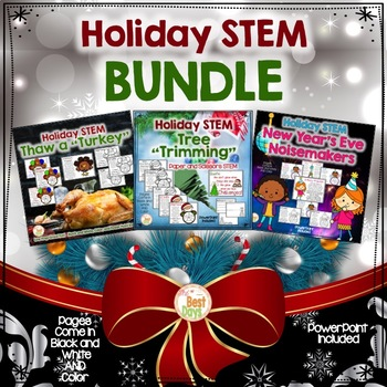 Holiday STEM BUNDLE: Three STEMS From Thanksgiving to New Year's