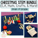 Christmas STEM Bundle - Writing Prompts, Math, Crafts, Centers, & More!