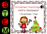 Christmas STEM Challenge - Number 1 - Build The Tallest Newspaper Christmas Tree
