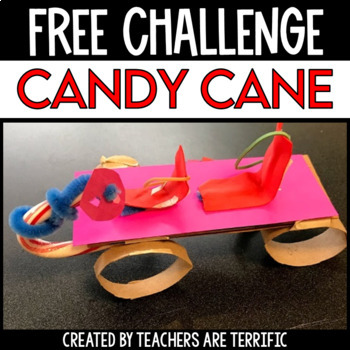 Christmas STEM Challenge Candy Cane FREEBIE