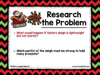 Christmas STEM Challenge: Jingle All The Way - PPT - Grades 5-8