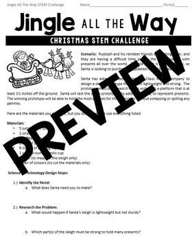 Christmas STEM Challenge: Jingle All The Way - SMART Board  - Grades 5-8